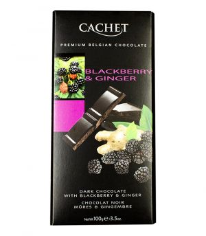 Étcsokoládé szederrel és gyömbérrel, Cachet