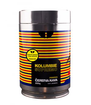 Kolumbie Supremo kávé, őrölt, dobozos