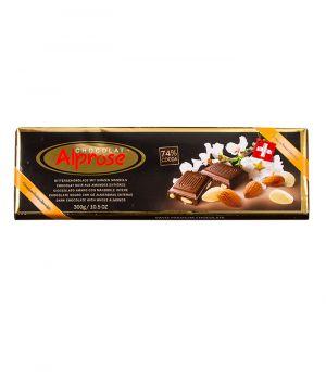 Premium keserű csoki mandulával,  Chocolat Alprose
