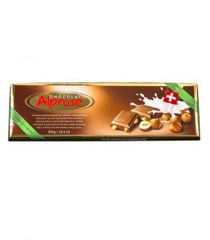 Premium tejcsokoládé egész földimogyoróval, Chocolat Alprose